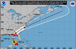 美国飓风迈克尔(Michael)10日登陆佛罗里达州,或影响亚特兰大(ATL)等机场
