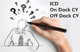 Wha's the difference between ICD, On Dock CY and Off Dock CY?